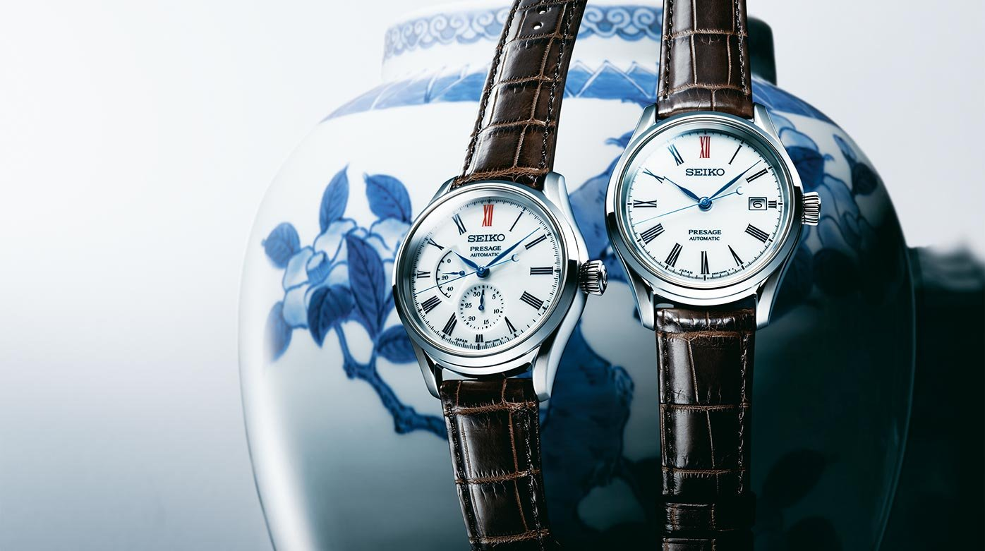 Seiko - Dials in porcelain from Arita for the Presage collection