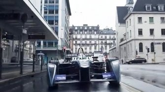 Video. Formula E in Geneva