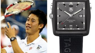 Kei Nishikori et sa TAG Heuer Professional Golf Watch