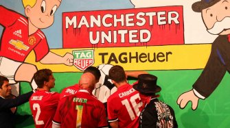 Alec Monopoly leaves his mark at Old Trafford