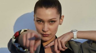 Bella Hadid, the new face of TAG Heuer