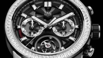 Carrera Heuer-02T with baguette diamond bezel