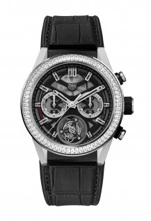 TAG Heuer Carrera Heuer-02T with baguette diamond bezel