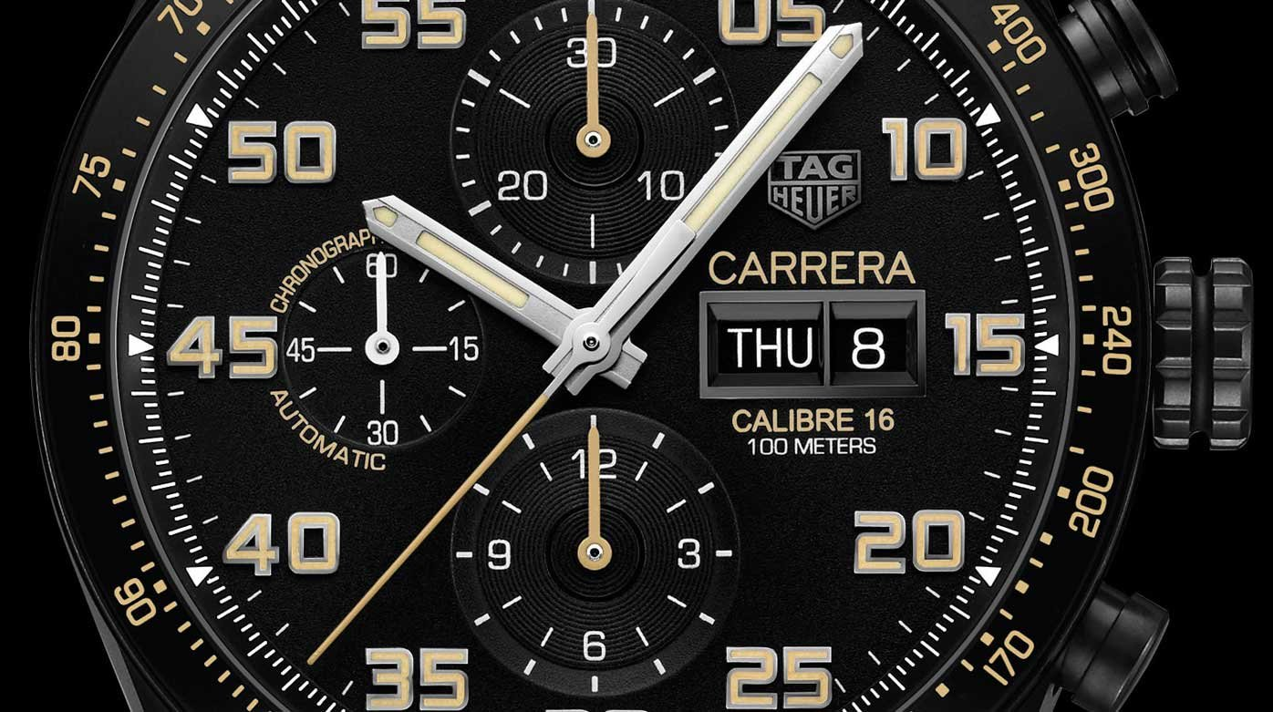 TAG Heuer - Carrera Calibre 16 Day-Date Chronograph Black Titanium