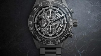 Carrera Heuer-01 Full Black Matt Ceramic Style & Tendance