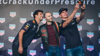 Andrés Iniesta, Daniel Ricciardo and Max Verstappen reunited for a unique challenge People and interviews
