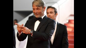 Mads Mikkelsen wears a Ulysse Nardin watch in Cannes
