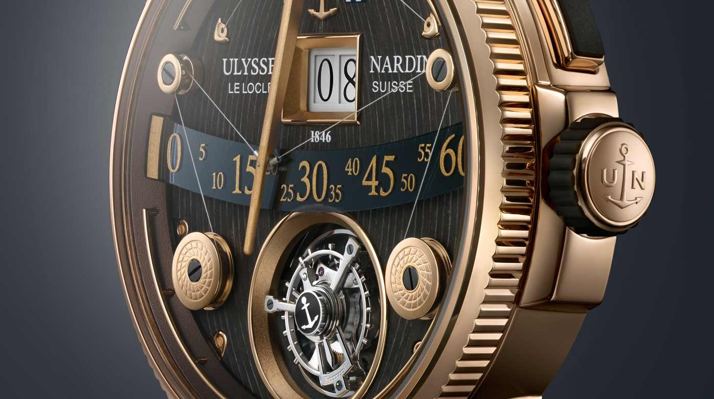 Ulysse Nardin - Marine Grand Deck Tourbillon in rose gold