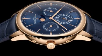 Patrimony perpetual calendar ultra-thin, blue dial Trends and style