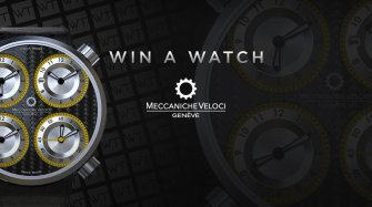 Win a Meccaniche Veloci QuattroValvole CarboGiallo watch Arts and culture