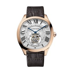 Drive de Cartier, tourbillon, or rose