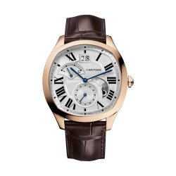 Drive de Cartier, second fuseau horaire, or rose