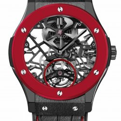 The Red'n'Black Skeleton Tourbillon by Hublot. © Hublot