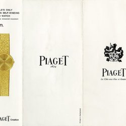 Piaget brochure, 1960 © Piaget Archives
