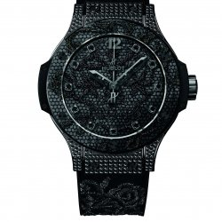 Big Bang Broderie, All Black and diamonds © Hublot
