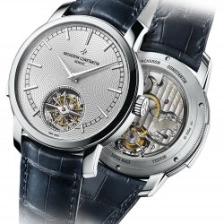 Traditionnelle minute repeater tourbillon, platinum, silvered opaline dial   © Vacheron Contantin