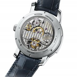 Traditionnelle minute repeater tourbillon, platinum, back   © Vacheron Contantin