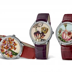 Métiers d'Arts Florilège, three watches.  © Vacheron Constantin