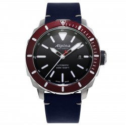 Alpina Seastrong Diver 300 with red bezel (ref. AL-525LBBRG4V6) © Alpina