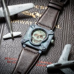 BR01 Skull Patine 1120 Chronopassion  © Bell & Ross