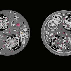 Blancpain L-Evolution Tourbillon Carrousel front and back movement views