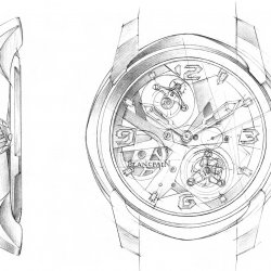 Blancpain L-Evolution Tourbillon Carrousel - croquis