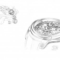 Blancpain L-Evolution Tourbillon Carrousel  design sketches - croquis