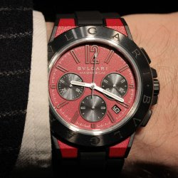 La plus rouge : Bulgari Diagono Magnesium © David Chokron/Worldtempus