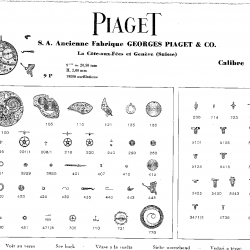 Piaget Manufacture 9P movement components  ©Piaget Archives