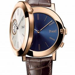 Piaget Altiplano Double Jeu – XL – 43 mm. Two superposed cases in 18K pink gold © Piaget