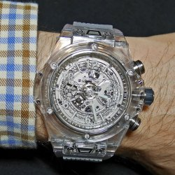 La plus transparente : Hublot Big Bang Unico Sapphire © David Chokron/Worldtempus