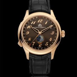 Lebeau-Courally Moon Phase in red gold © Lebeau-Courally