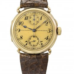 Chronographe Patek Philippe en or (lot 34)