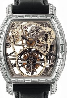 Openworked tourbillon high jewellery