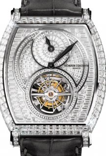 Regulator tourbillon high jewellery invisible-setting