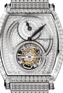 Tourbillon regulator high jewellery