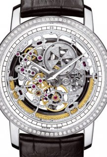Traditionnelle openworked diamond-set self-winding