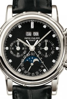 Split seconds chronograph with 30 minute counter and perpetual calendar