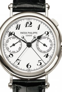 Split seconds chronograph with 60 minute counter