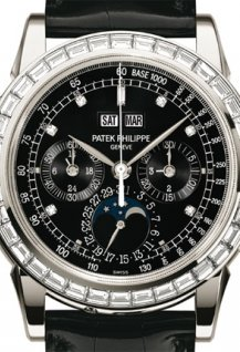 Chronograph with 30 minute counter, Perpetual Calendar