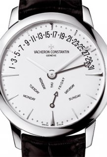 Contemporaine retrograde day and date