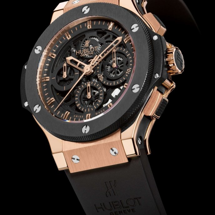 Hublot - Aero bang Gold Ceramic