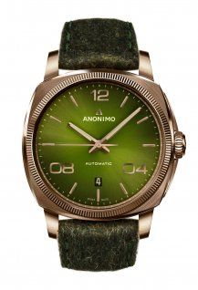 Bronze Case & Galvanic Green Sunray Dial