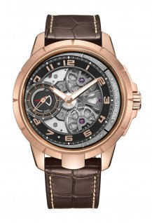 Edge Double Barrel Rose Gold