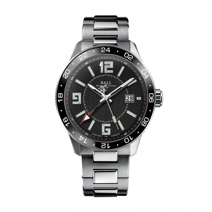 ball watch-engineer master II-pilote gmt- ref.GM3090C-SAJ-BK-watch face view