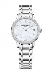 Classima 31mm Diamond-Set Bezel Mother-Of-Pearl Quartz