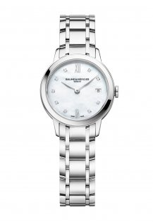 Classima 27mm Diamond-Set Mother-Of-Pearl Quartz