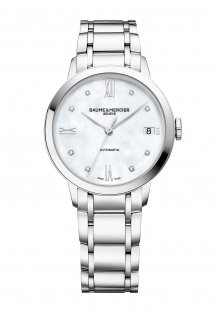 Classima 34mm Diamond-Set Mother-Of-Pearl Automatic