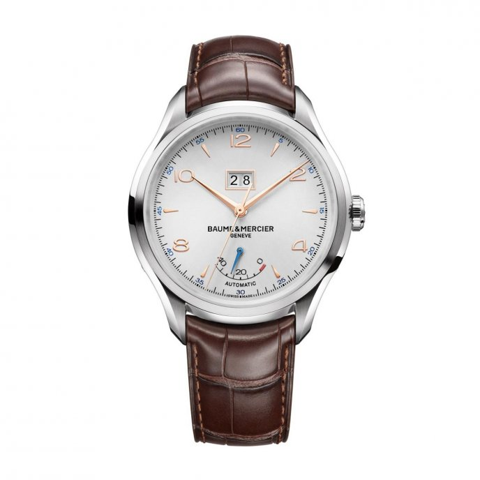 Baume & Mercier Clifton Automatique Grande Date et Réserve de Marche M0A10205 watch face view