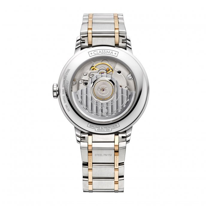 Baume & Mercier Classima Femme Automatique Bicolore 10223 Watch Back View